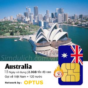 sim du lịch Úc 15 ngày