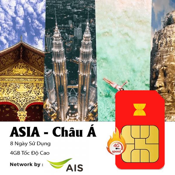Mua Sim 4G Châu Á