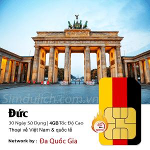 Sim du lịch Đức