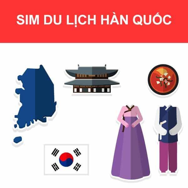 Sim du lịch Hàn Quốc 4G