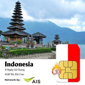 sim du lịch Indonesia