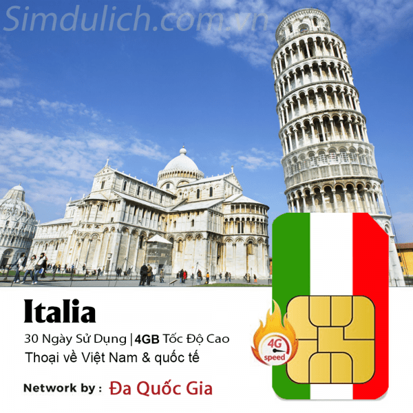 Sim du lịch Ý
