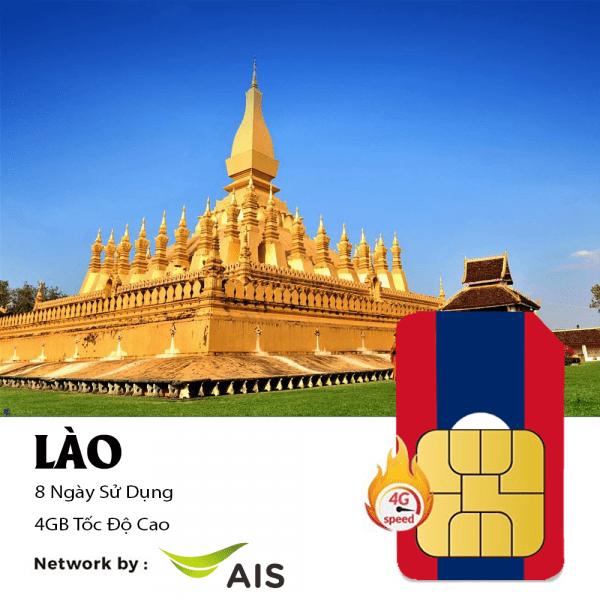sim du lịch Lào