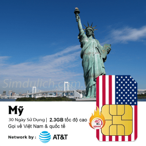 Sim du lịch Mỹ