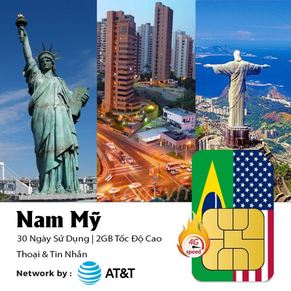 sim du lịch Nam Mỹ