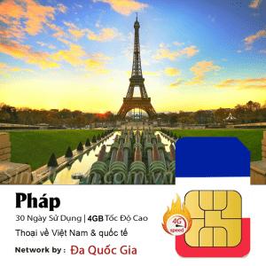 Sim du lịch Pháp
