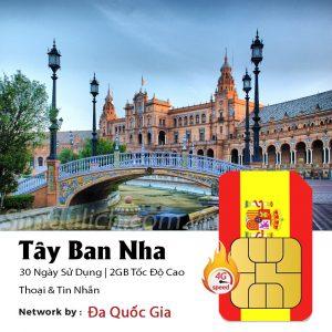 Sim du lịch Tây Ban Nha