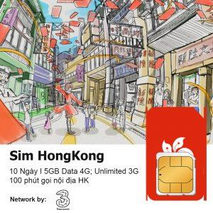 Sim du lịch Hong Kong 10 Ngay