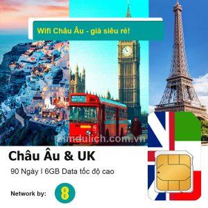 Sim Du Lịch Châu Âu 6GB