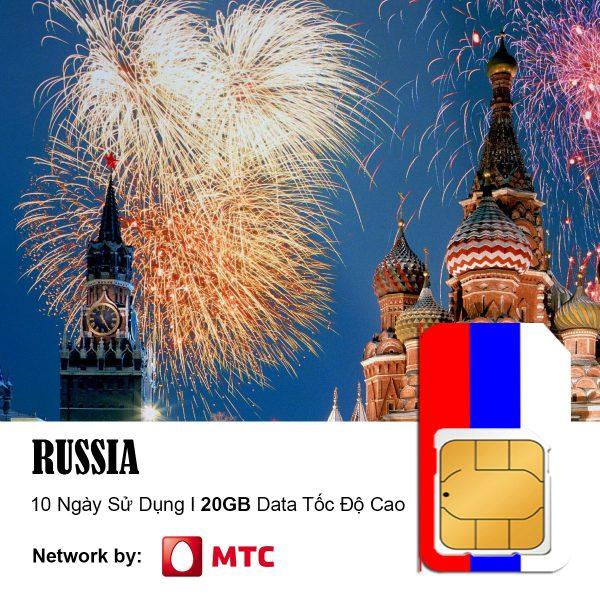 sim du lịch Nga 20GB