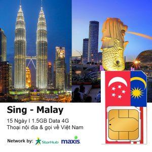 Sim du lịch Singapore Malaysia