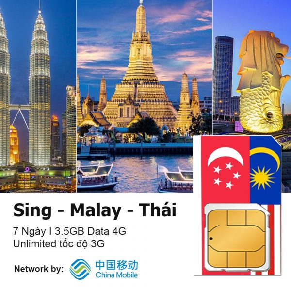 Sim du lịch Singapore - Malaysia - Thái Lan
